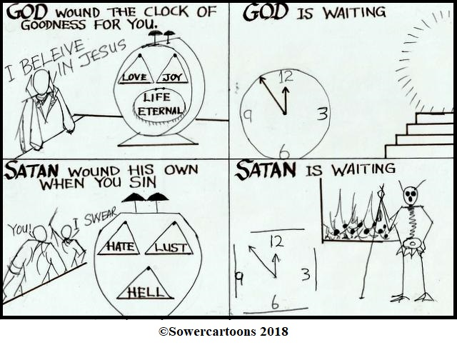 Sowercartoons THE CLOCK OF LIFE IS WOUND BUT ONCE