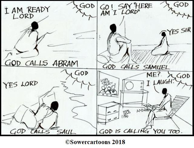 Sowercartoons GOD IS CALLING YOU